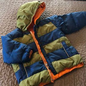 Hanna Andersson boys reversible down jacket